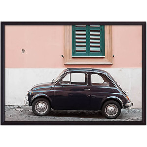 Постер в рамке Дом Корлеоне Черный автомобиль Рим 30x40 см