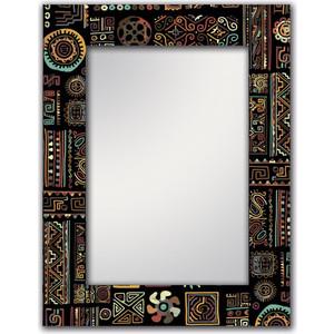 Настенное зеркало Дом Корлеоне Этнический микс 75x110 см фотоштора стильный дом фотошторы стильный дом этнический орнамент