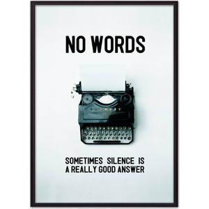 Постер в рамке Дом Корлеоне No words... 21x30 см