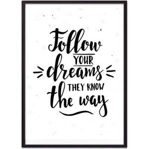 Постер в рамке Дом Корлеоне Follow your dreams... 40x60 см