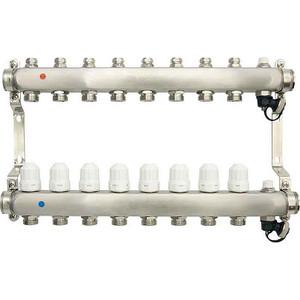 Коллекторная группа Ondo 8 выхода с термостатическими и запорными клапанами (OKGSP008) коллекторная группа royal thermo в сборе с расходомерами 1 вр 3 4 нр 9 выходов нержавеющая сталь rte 52 109