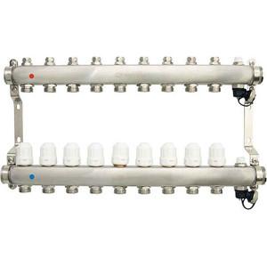 Коллекторная группа Ondo 9 выхода с термостатическими и запорными клапанами (OKGSP009) фото