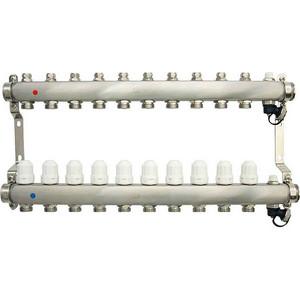Коллекторная группа Ondo 10 выхода с термостатическими и запорными клапанами (OKGSP010) фото