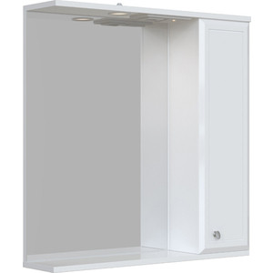 Зеркальный шкаф Sanstar Афина 70 П белый (155.1-2.4.1.)