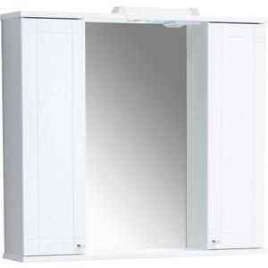 Зеркальный шкаф Sanstar Лира 80 белый (51.1-2.5.1.)