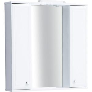 Зеркальный шкаф Sanstar Шармель 90 белый (110.1-2.5.1.)