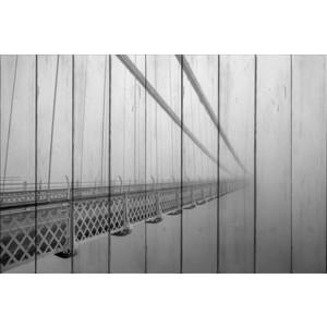 Картина на дереве Дом Корлеоне Мост в тумане 01-0371-120х180