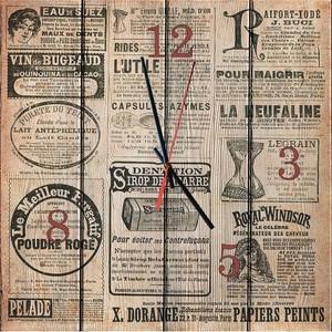 Настенные часы Дом Корлеоне Старая газета 02-0003-60х60