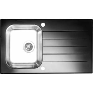 Мойка кухонная Alveus Glassix 10 черный (1099450)
