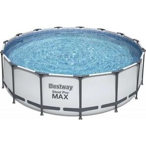 Каркасный бассейн Bestway 56438 457х122 см 16015 л.,фильтр-насос 3028 л/ч , тент, лестница