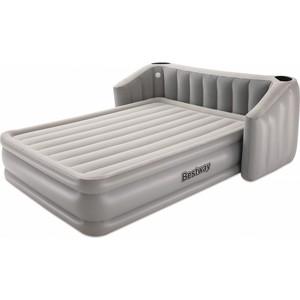 Надувная кровать Bestway 67620 Fullsleep Wingback 233х196х80 см с изголовьем и подсветкой, встроенный электронасос,