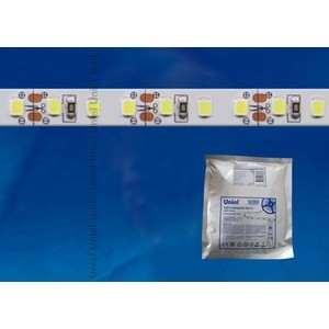 Светодиодная лента Uniel ULS-2835-60LED/m-8mm-IP20-DC24V-6W/m-5M-W