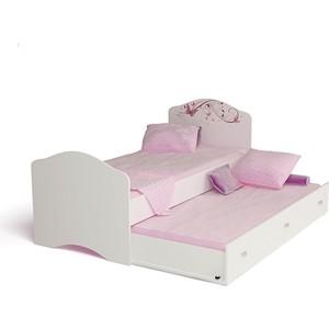 Кровать-классика ABC-KING Фея с рисунком без страз 160x90 ящика и матраса