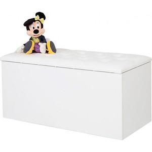Ящик для игрушек ABC-KING Princess, Фея кожанная крышка со стразами Сваровски белая