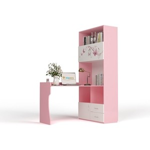 Стол-стеллаж ABC-KING Фея правый розовый