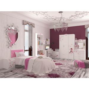 Кровать-классика ABC-KING Фея розовая кожа/стразы Сваровски 190x90 без ящика