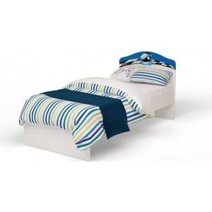 Кровать-классика ABC-KING La-Man с рисунком 190x90 без ящика синий