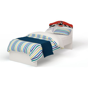 Кровать-классика ABC-KING La-Man с рисунком 160x90 без ящика красный
