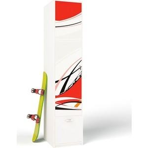 Шкаф ABC-KING La-Man красный левый с 1-й дверью