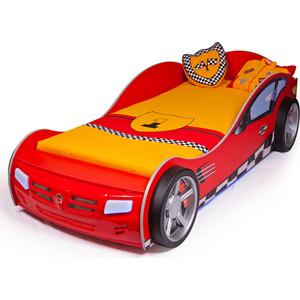 Кровать-машина ABC-KING Formula 160x90 красная