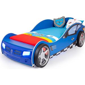 Кровать-машина ABC-KING Formula 190x90 синяя