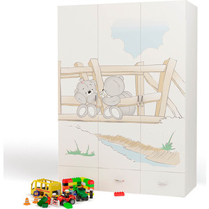 Шкаф ABC-KING 3-х дверный Bears