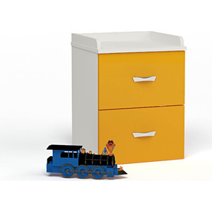 Тумба ABC-KING Белый каркас/оранжевый фасад прикроватная