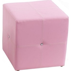 Пуф ABC-KING Розовый со стразами Сваровски квадратный шапка со стразами imperial