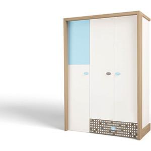 Шкаф ABC-KING Mix голубой 3-х дверный