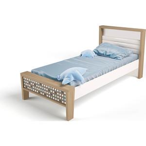 Кровать ABC-KING Mix №1 голубой 190х90