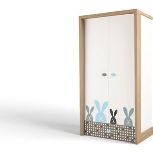 Шкаф ABC-KING Mix bunny голубой 2-х дверный