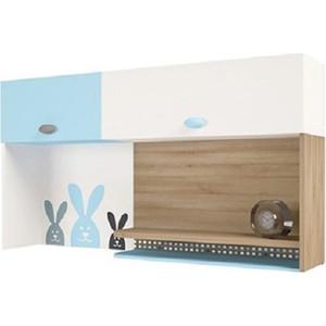 Надстройка на стол/навесная полка ABC-KING Mix bunny голубой левый