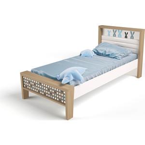 Кровать ABC-KING Mix bunny №1 голубой 160х90