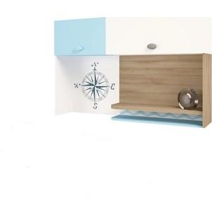 Надстройка на стол/навесная полка ABC-KING Mix ocean голубой левый