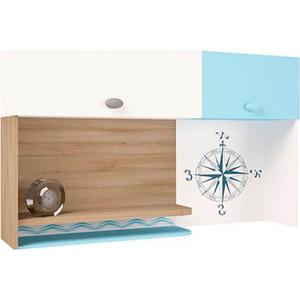 Надстройка на стол/навесная полка ABC-KING Mix ocean голубой правый