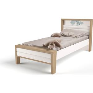 Кровать ABC-KING Mix ocean №2 мягкое изножье голубой 160х90