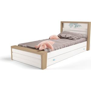 Кровать ABC-KING Mix ocean №4 мягкое изножье голубой 160х90