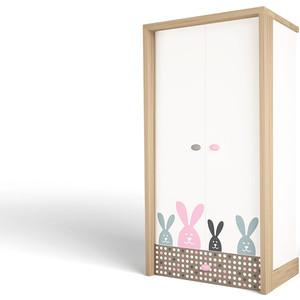 Шкаф ABC-KING Mix bunny розовый 2-х дверный
