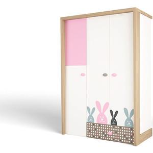 Шкаф ABC-KING Mix bunny розовый 3-х дверный