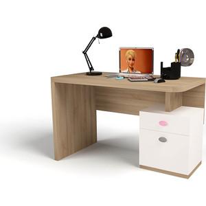 Стол ABC-KING Mix bunny розовый письменный левый