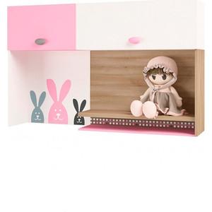 Надстройка на стол/навесная полка ABC-KING Mix bunny розовый левый