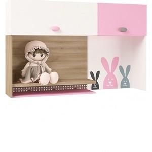 Надстройка на стол/навесная полка ABC-KING Mix bunny розовый правый