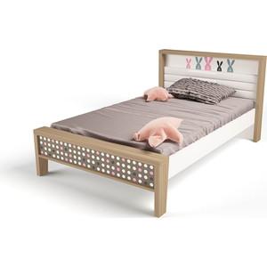 Кровать ABC-KING Mix bunny №1 розовый 190х120