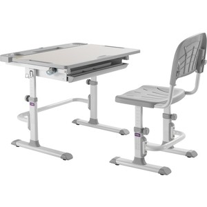 Комплект парта + стул трансформеры FunDesk Disa grey cubby