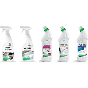 Комплект профессиональных чистящих и моющих средств GRASS для уборки ванной туалета