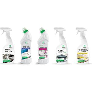Комплект профессиональных чистящих и моющих средств GRASS для уборки кухни