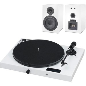 Виниловый проигрыватель Pro-Ject SET JUKEBOX E + SPEAKER BOX 5 WHITE/WHITE