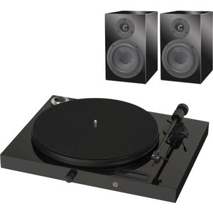 Виниловый проигрыватель Pro-Ject SET JUKEBOX E + SPEAKER BOX 5 PIANO/PIANO BLACK