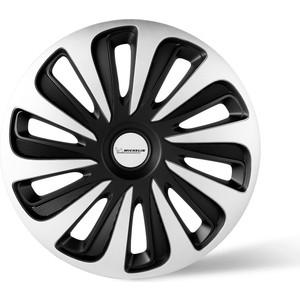 Колпаки колесные Michelin 14, Калибр, серебристо-черный, 4 шт.