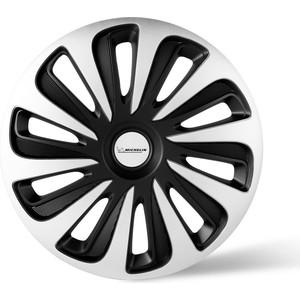 Колпаки колесные MICHELIN 17, Калибр, серебристо-черный, 4 шт.